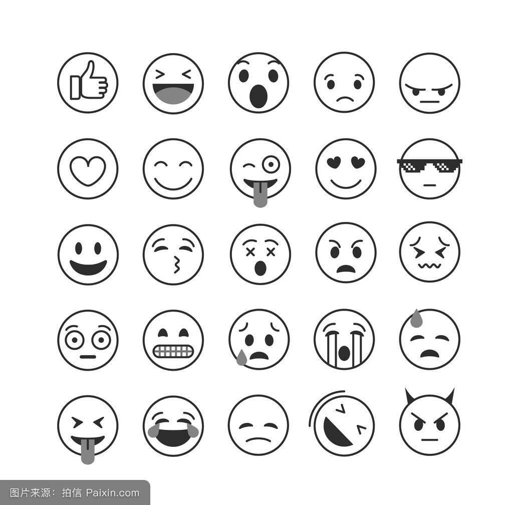 圆形笑脸表情符号分享展示图片