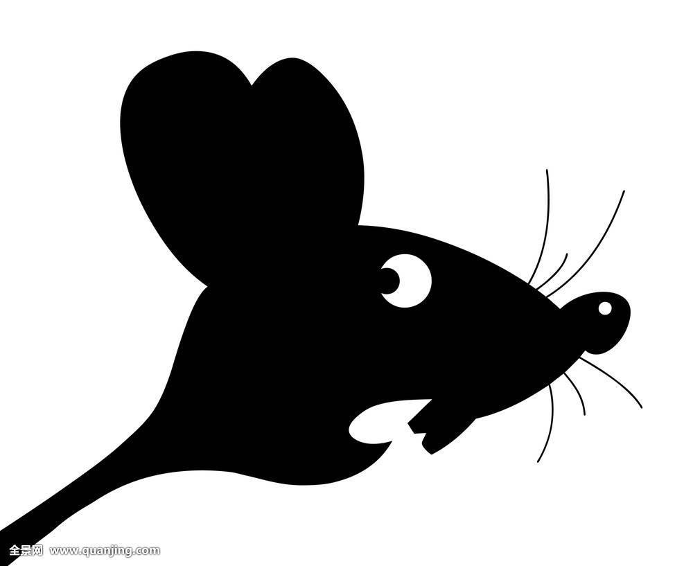 设计老鼠剪影绘画壁纸自然茎物体素描插画动物纹身卡通茶包装优秀设计图片