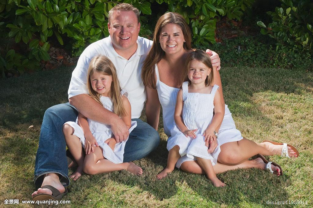 家庭照,伴侣,两个,女儿,加利福尼亚,美国图片
