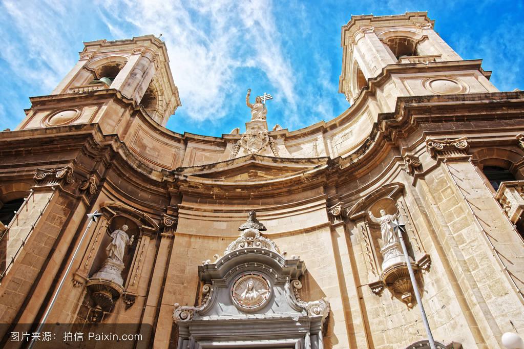 多米尼克,天堂,城市的,假期,中世纪,欧洲的,多米尼加,教堂,宗教,大图片