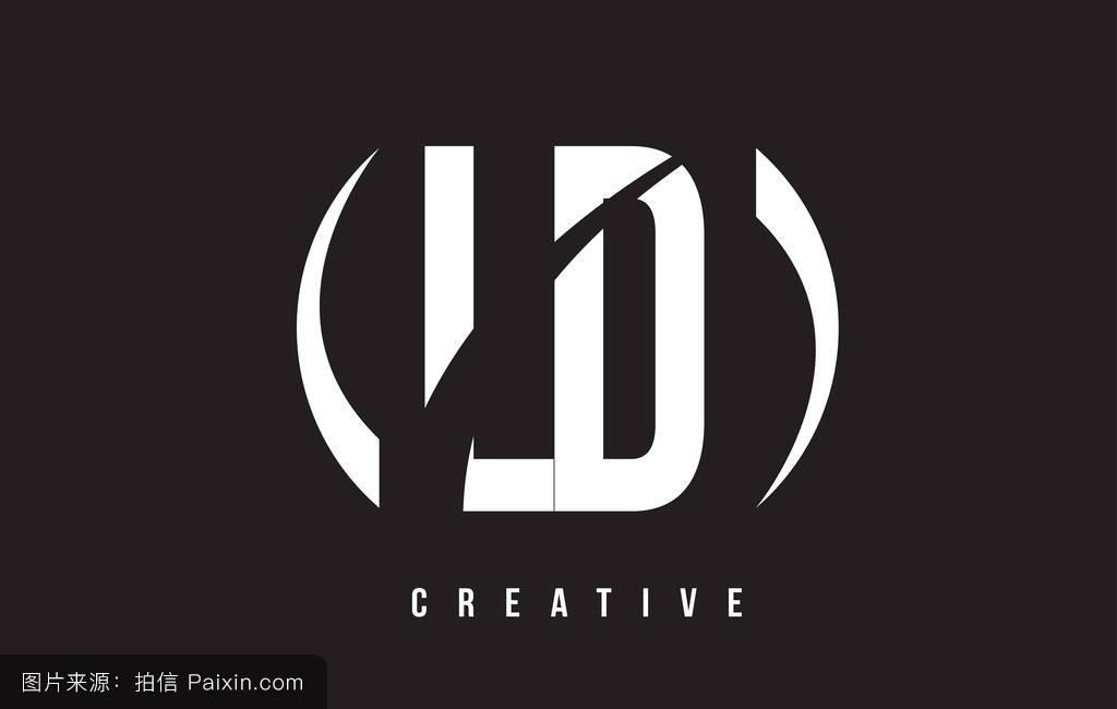 _ld l d的白色字母标�