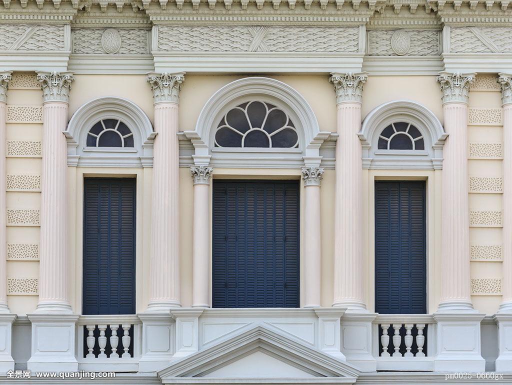 欧式风格,拱形,窗户,大皇宫,泰国图片