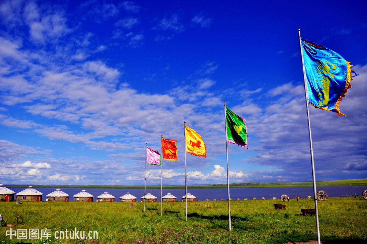 美丽,云海,无人,草原蒙古包群,农家乐蒙古包,呼和浩特,和林格尔县图片