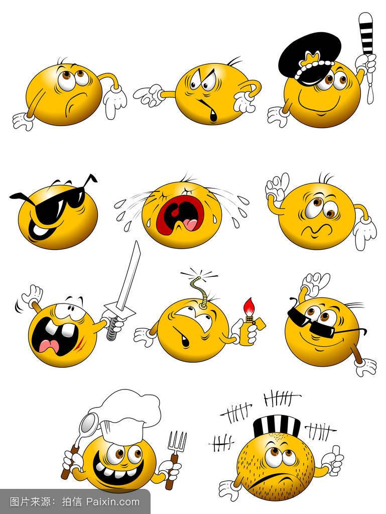 卡通,徽章,标志,符号,表情符号,贴,按钮,头,矢量,笑脸,有生气的,感觉图片