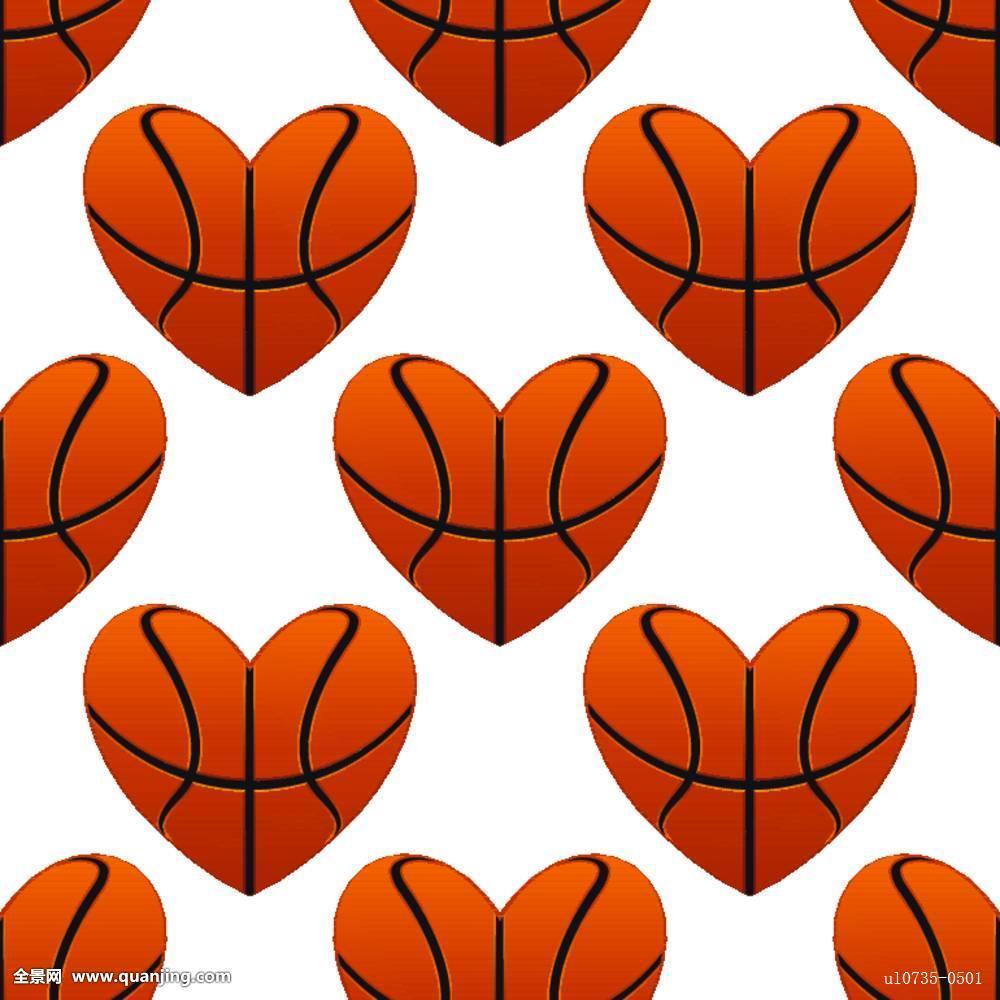 篮球,心形,无缝,图案图片