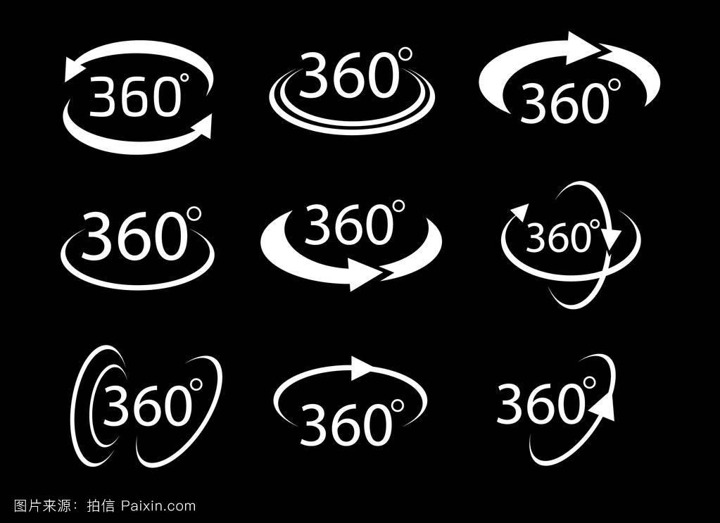 数学符����9�$9�9f�j_收集角度360度符号图标,几何数学符号.