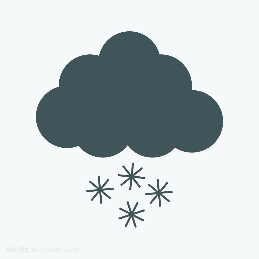 太阳,晴天,星星,月亮,矢量图,云,寒冷,滴下,天气,夜晚,温度,插画图片