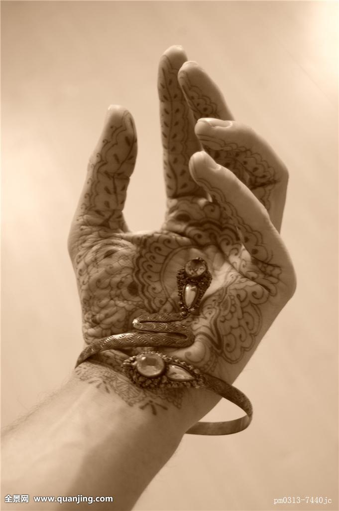 手环纹身手稿浪花分享展示图片