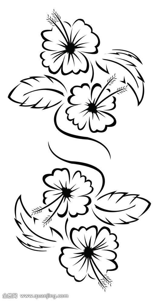 手上线条花纹身分享展示图片图片