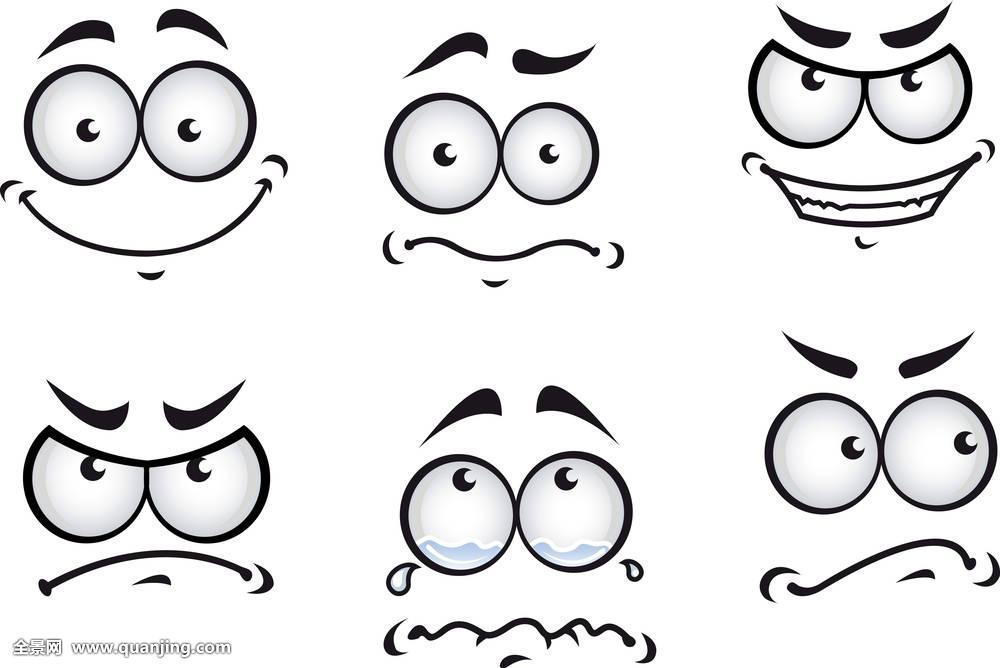 有趣的表情绘画简笔画分享展示图片