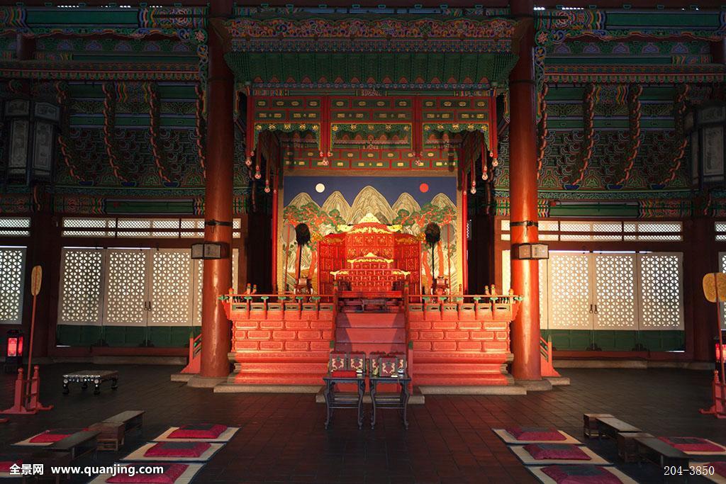 横图,韩国,都市,首尔,风光,风景,景福宫,勤政殿,古代,皇宫,王宫,宫殿图片