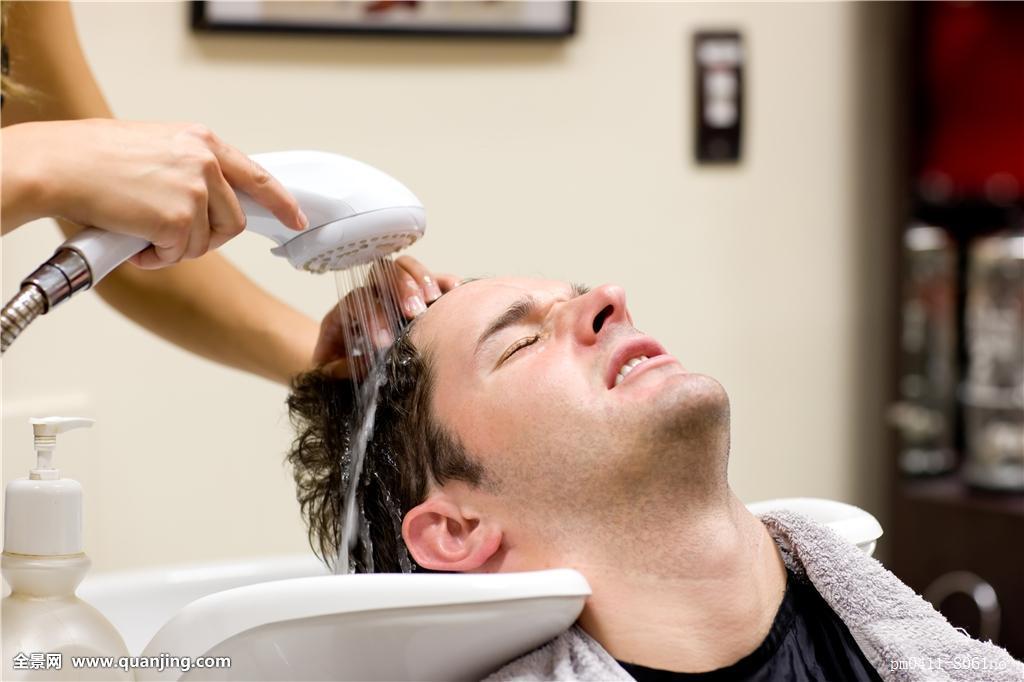 湿,魅力,英俊,职业,创意,理发师,乐观,照片,图像,美容师,美发师,发型图片