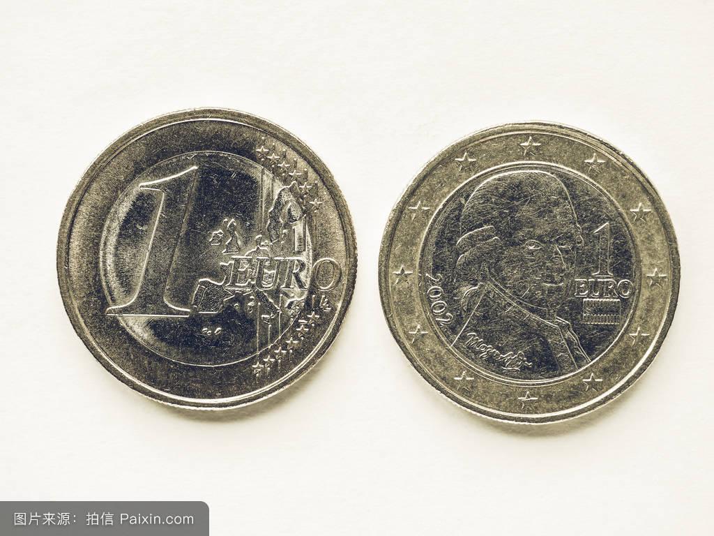 奥地利奥地利1欧元硬币图片