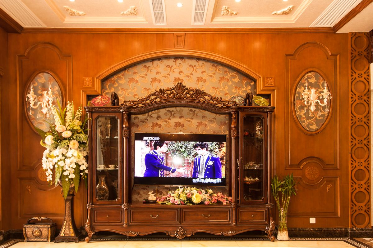 室内空间装饰,软包,装修装饰,欧式客厅装修设计,,电视背景墙,家装样板图片