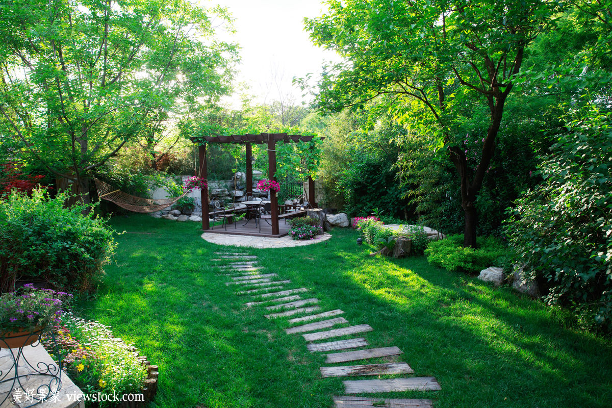 花园,庭院,私家花园,,建筑,户外,自然,树,中国,草地,别墅,绿色,小图片
