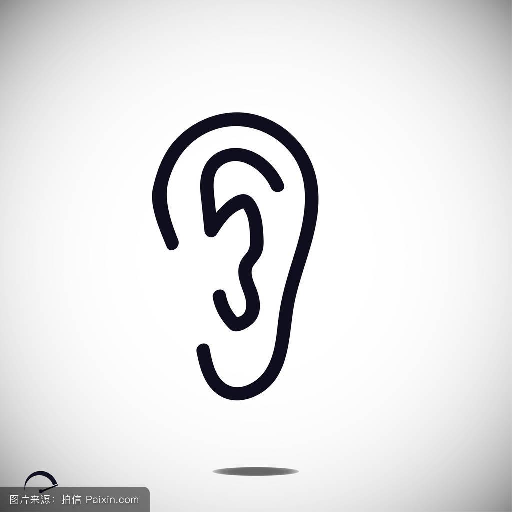 听���!�`iyn��+��n���'���_符号,听,声音,矢量,感觉,人类,轮廓,白色,黑色,形象,签名,艺术,设计