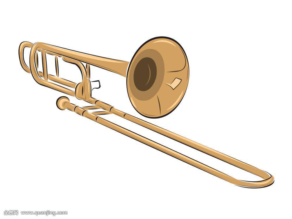 乐器,长号,插画图片