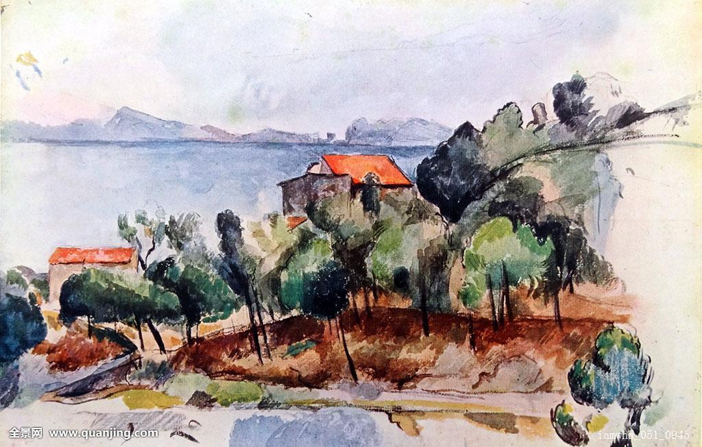 绘画,风景,描绘,靠近,涂绘,法国,艺术家,印象派,油漆工,19世纪,画家图片