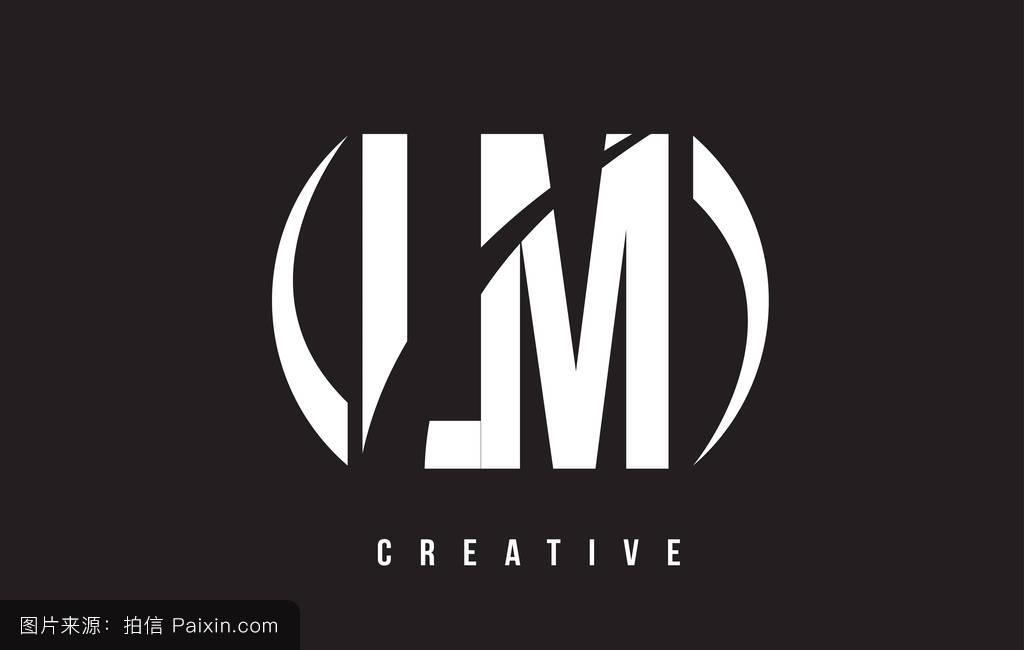 _lm l m的白色字母标�