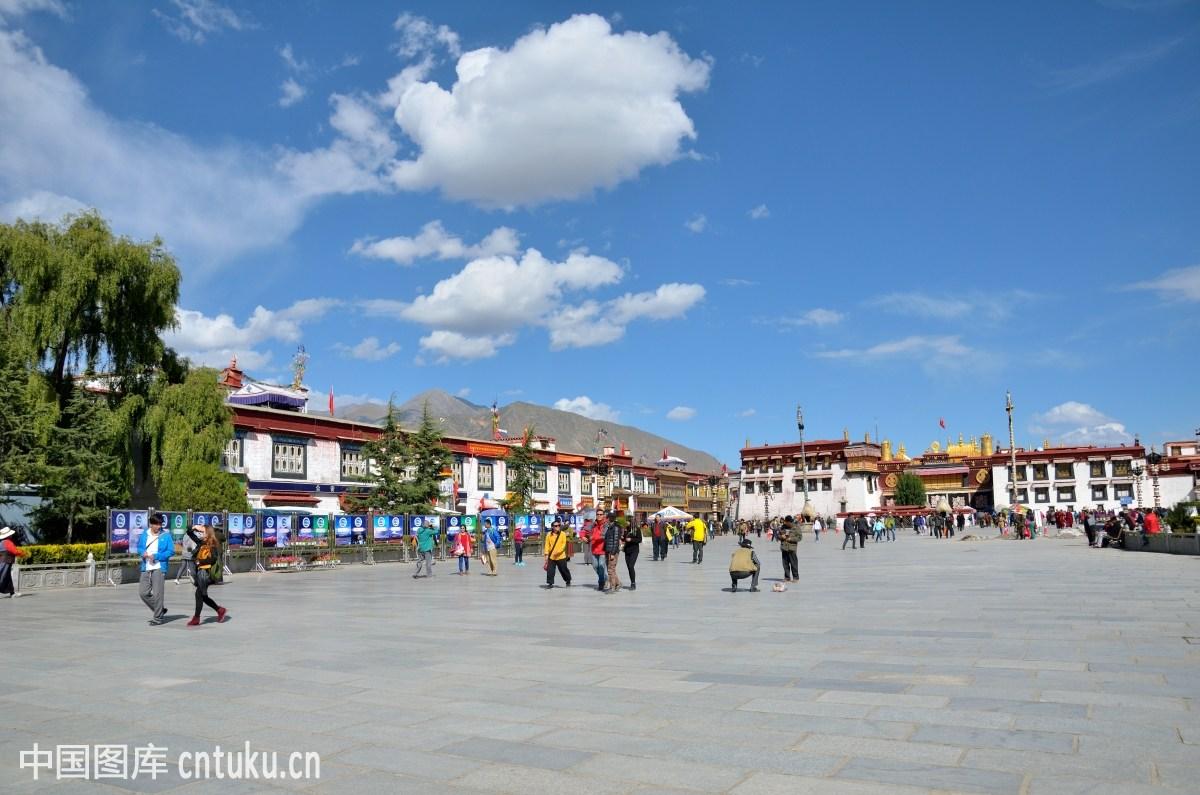 拉萨市八廓街_大昭寺,街道,旧城区,拉萨,旅行者,商店,西藏人,中国西部,西藏,八廓街