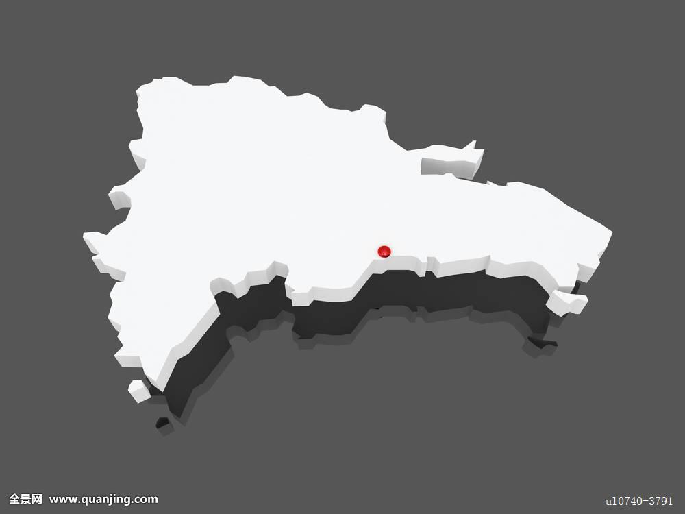 地图,多米尼加共和国图片