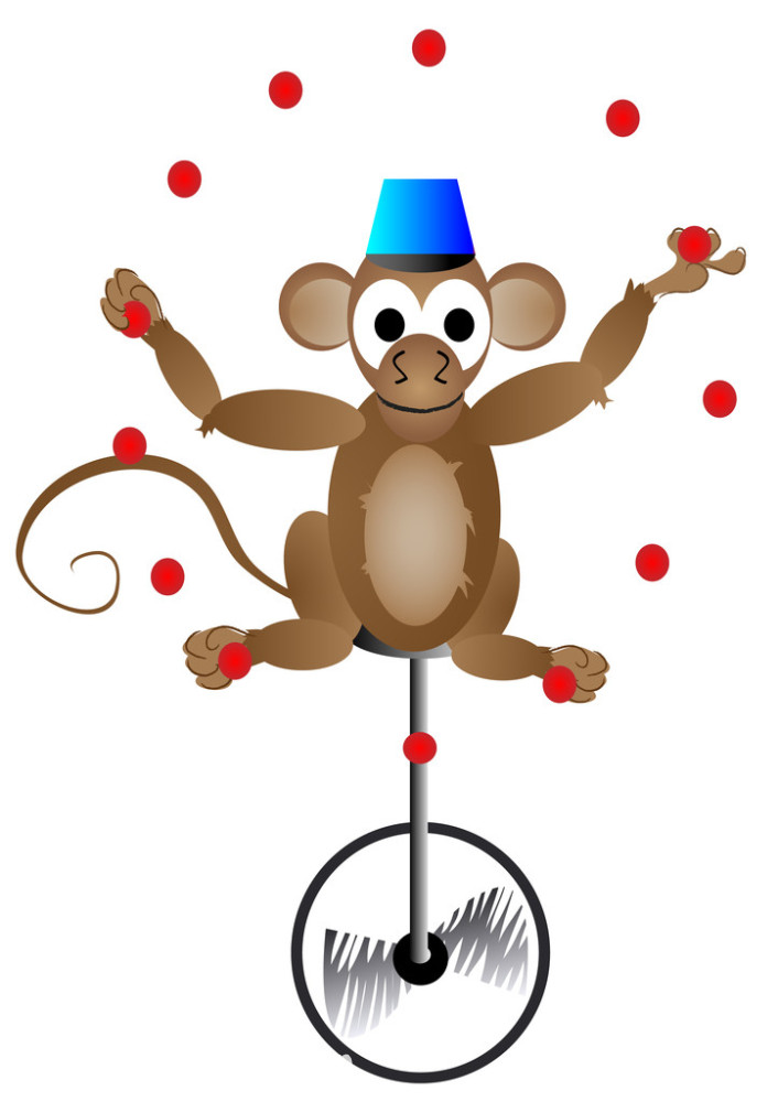 画猴子用什么颜色_马戏团的猴子