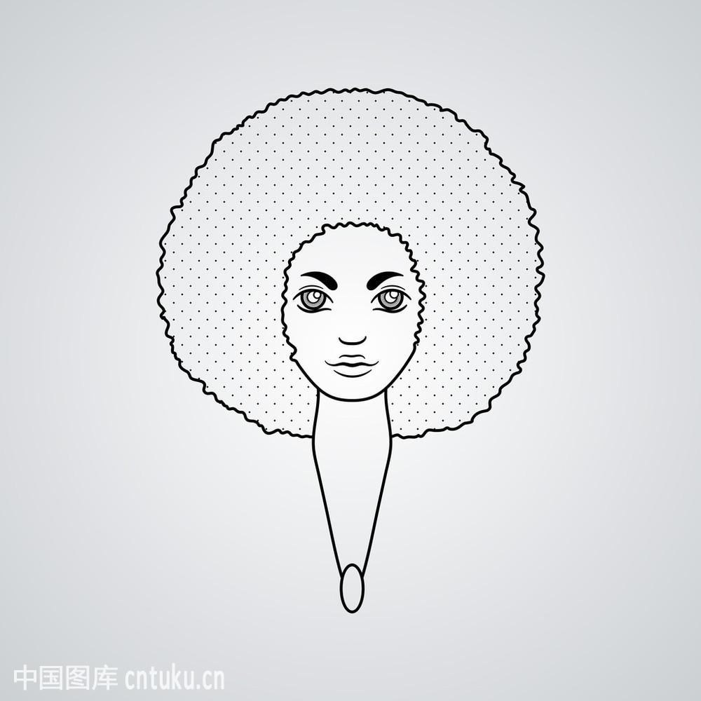 矢量.头发的花纹.图片