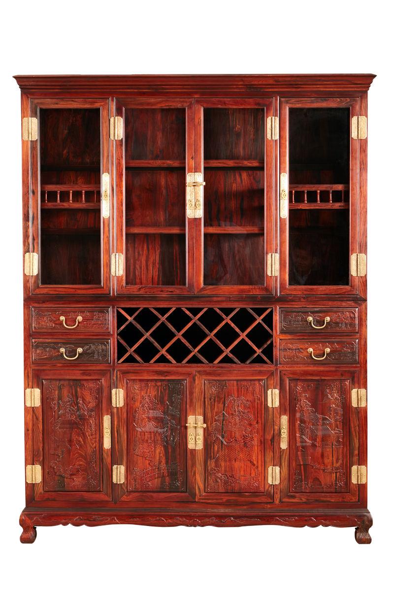 酒柜,红木酒柜,实木酒柜,中式酒柜,实木厨具,橱柜,酒架图片