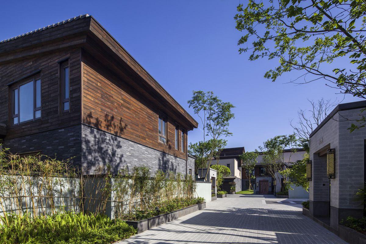 别墅,住宅建筑设计,新中式风格别墅,新中式景观,联排别墅,独栋别墅图片