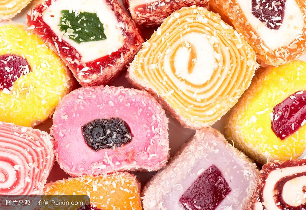 东方的,东,a火鸡的,件,土耳其,火鸡,美食,糖果,美食,果冻,土耳其软糖图网长寿重庆白色图片