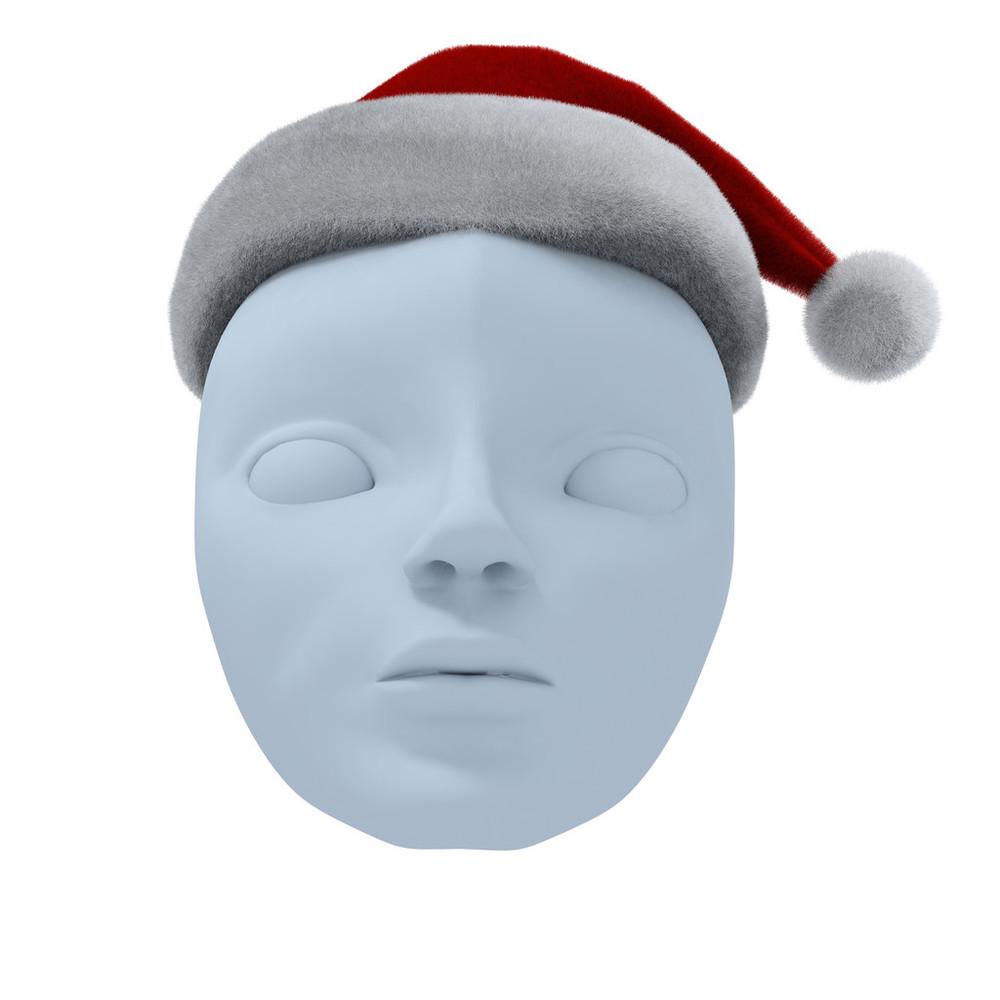 帽子_戏剧面具和santa的帽子