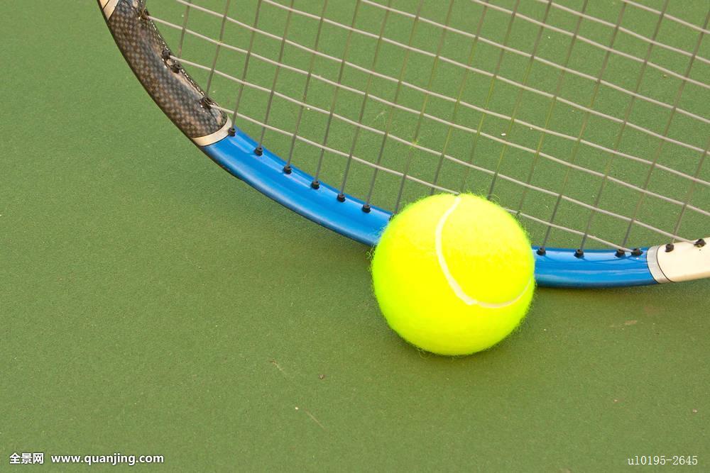黄色,网球图片
