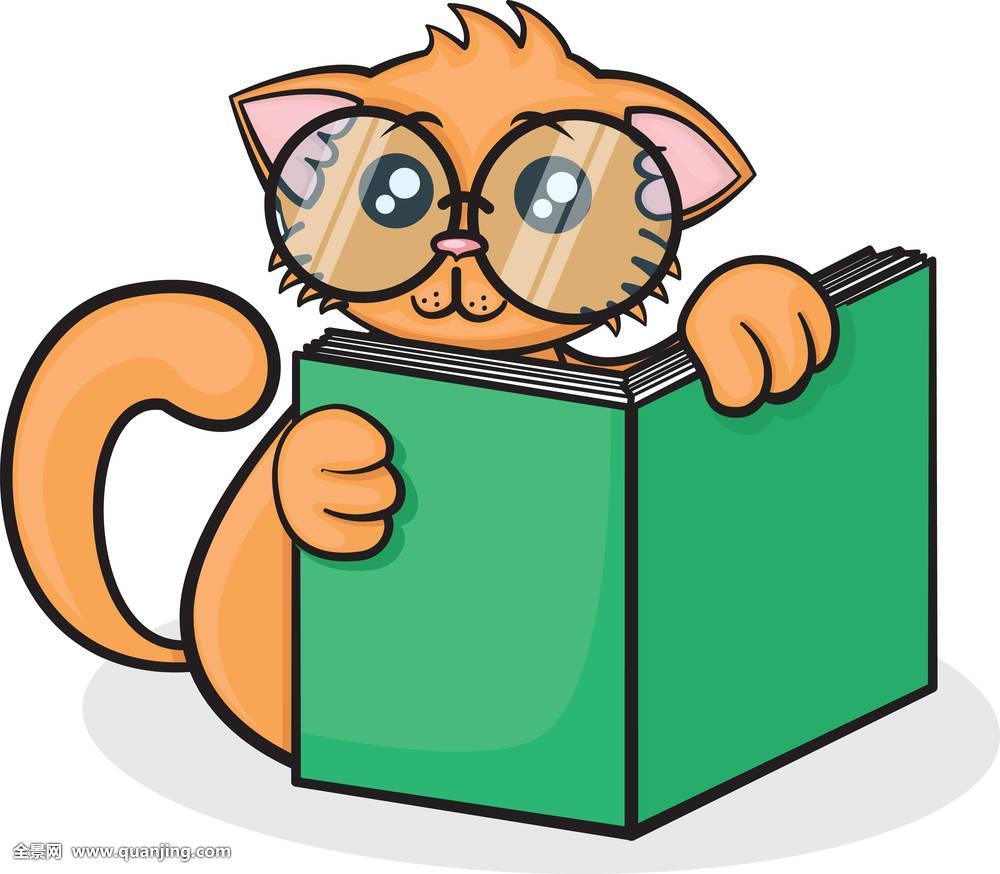 漫画_小,有趣,卡通,猫
