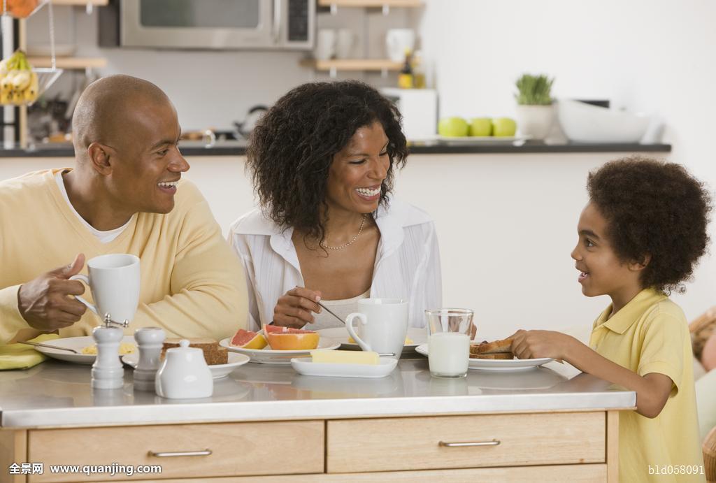 非洲,家庭,吃饭,早餐图片