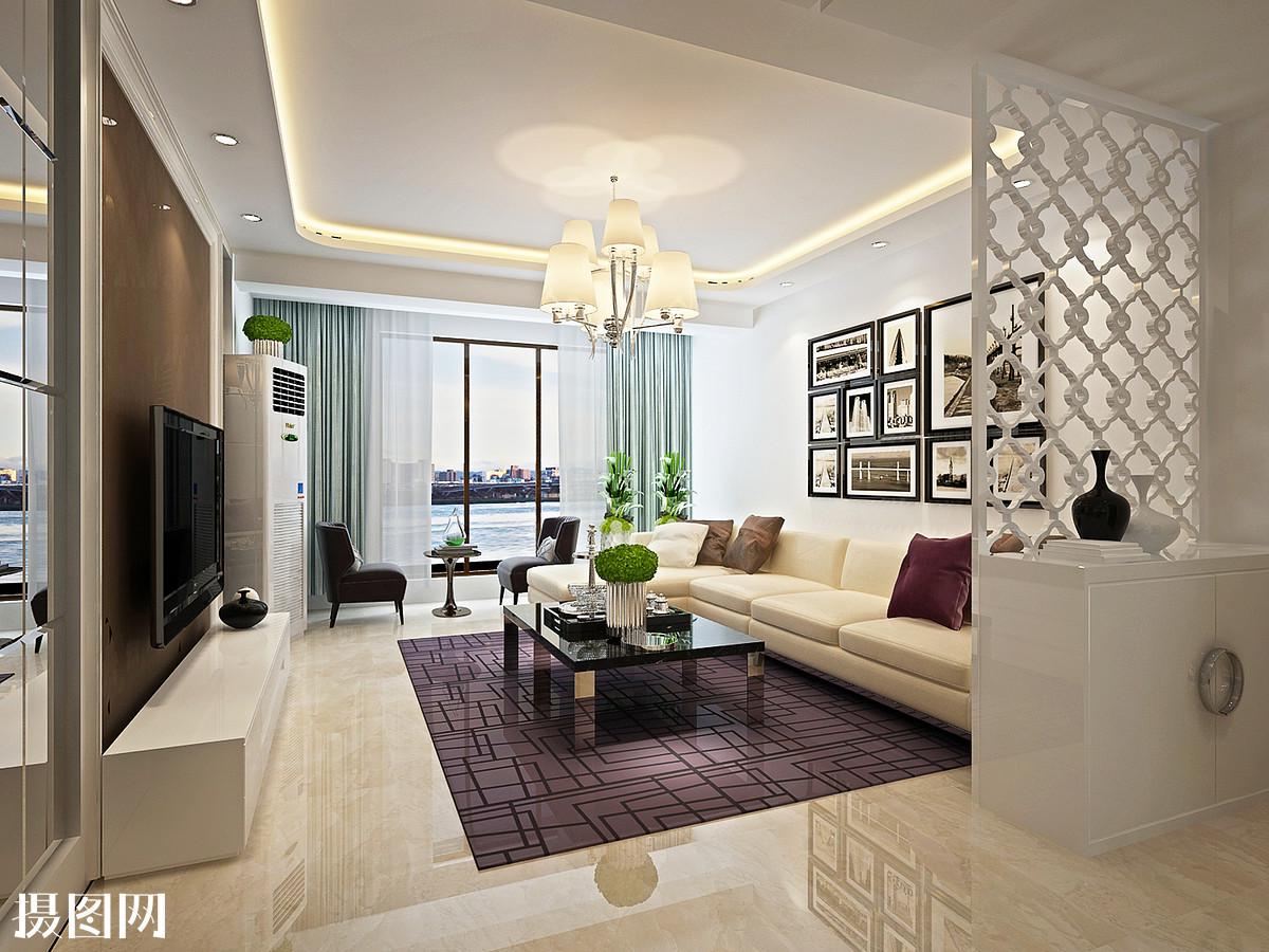 客厅,效果图,家装效果图,3d图纸,厅里效果图,黑白灰,后现代风格图片