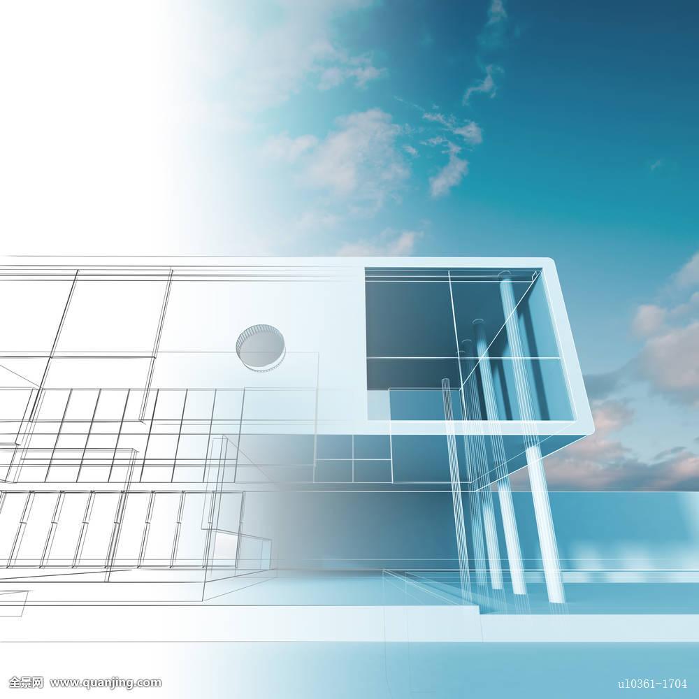 工程,产业,设计,蓝图,屋舍,房子,项目,概念,现代,玻璃,墙壁,透明,未来图片