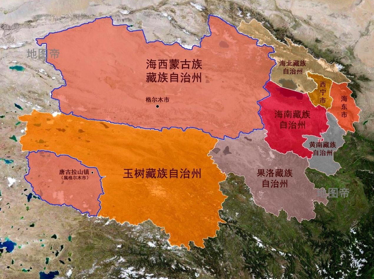 青海格尔木地图_青海省格尔木市为何被玉树藏族自治州分成两块?_百科TA说