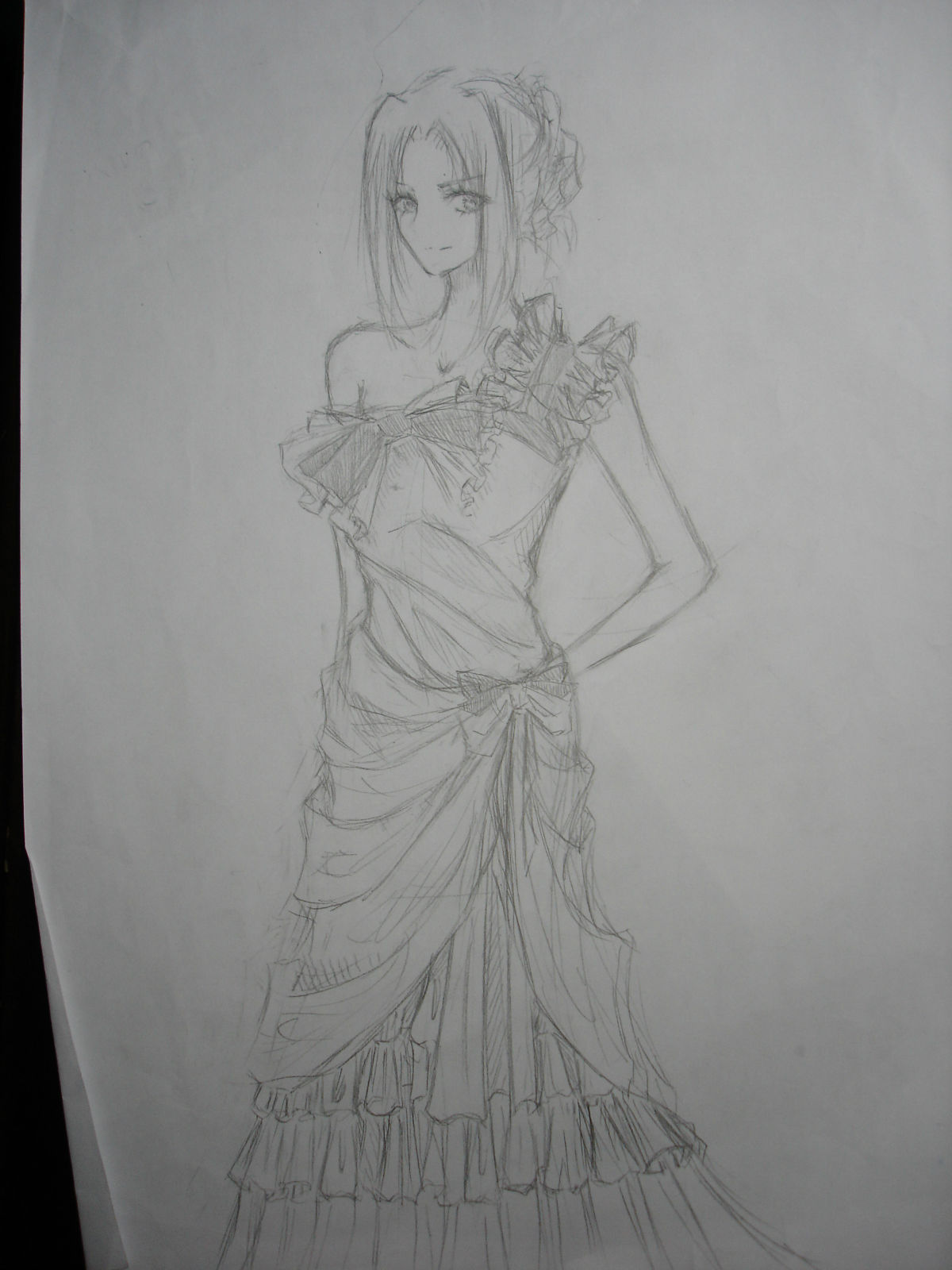 妹妹怎么画_妹妹画的晚礼服