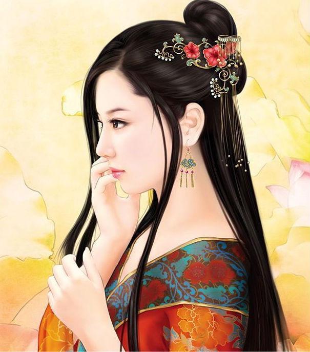 手绘怀孕妃子_丹青;家世;超重大臣之女 大将军之妹特长;舞蹈 诗画 医术性图片