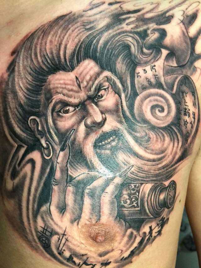 姜子牙纹身_貔貅纹身图案半甲_貔貅纹身图案半甲分享展示