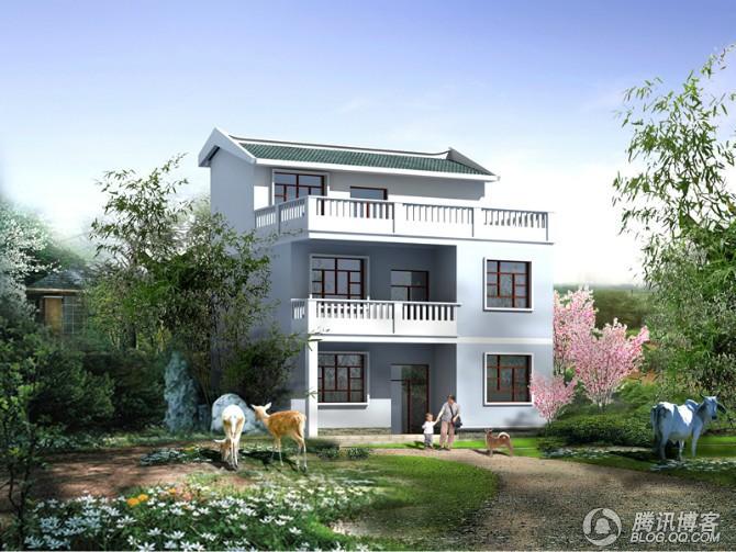 21×8三層自建(帶商鋪及夾層)外觀簡潔型房屋設計圖含圖片