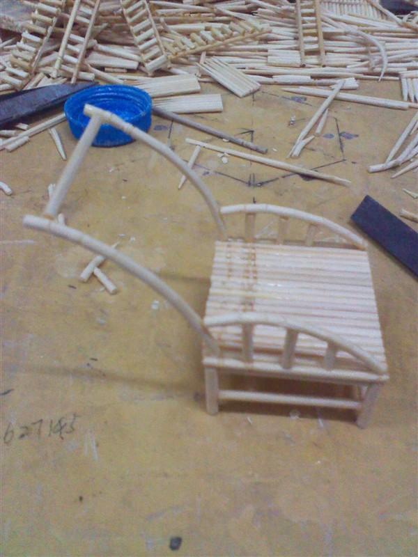 竹制工艺流程_牙签制作小木屋_牙签制作小木屋高清图片