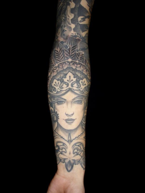 象神包小臂紋身手稿分享展示圖片