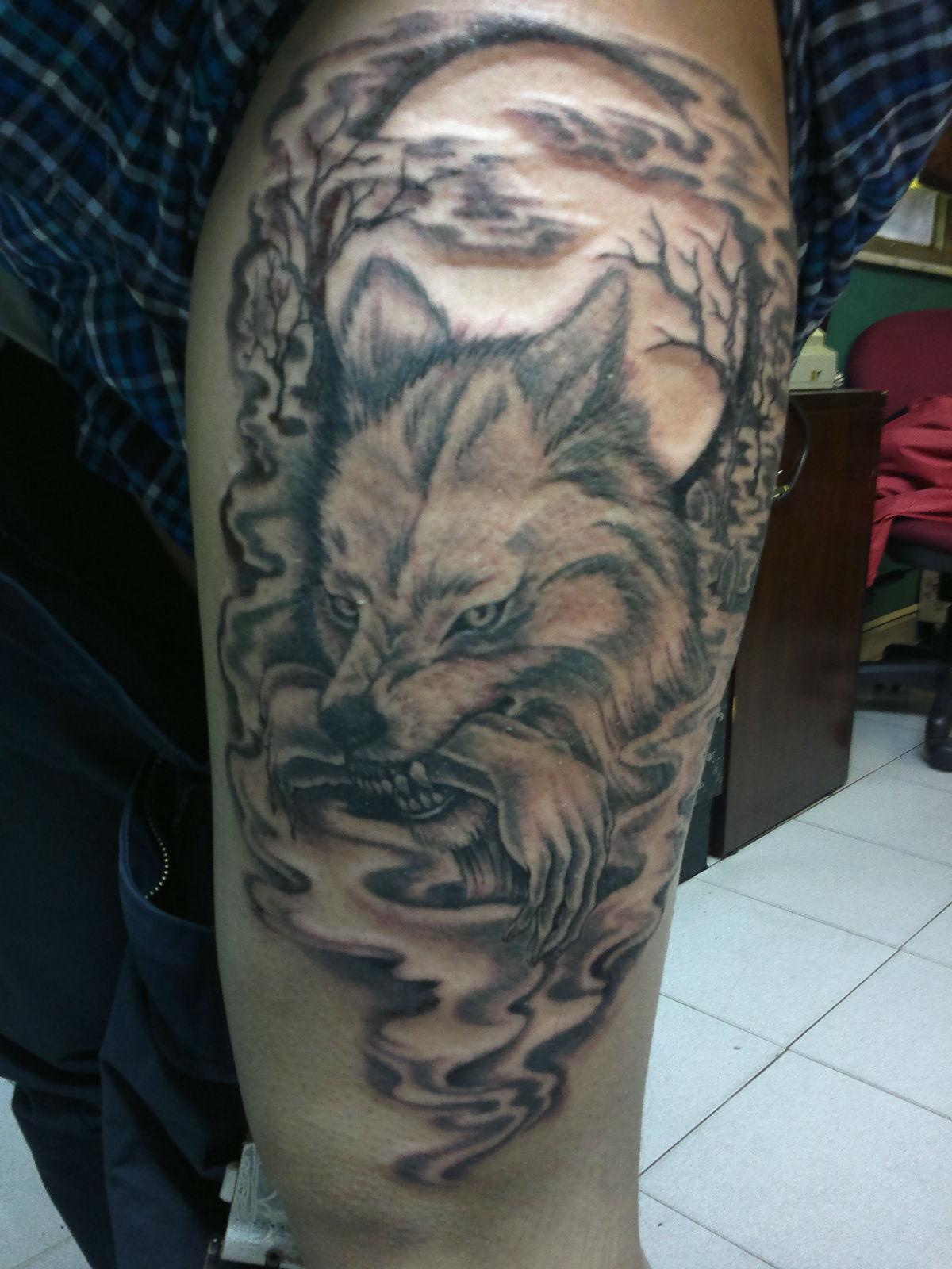 九匹血狼纹身图案_纹身图案狼嘴血_血狼纹身图案大全图片_血狼纹身图案_纹身图案 ...