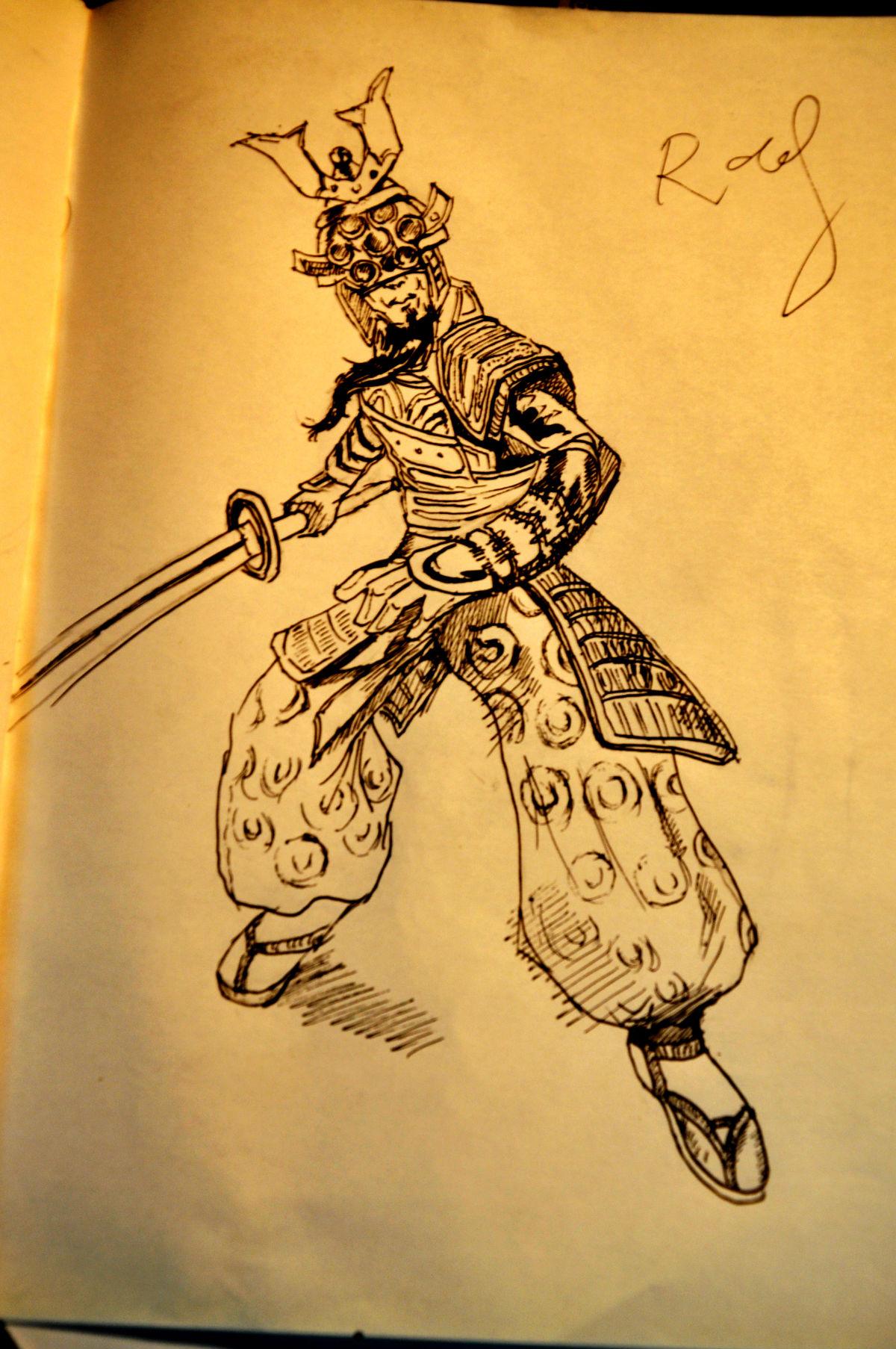 剑圣素描_lol手绘图图片_lol手绘图图片下载
