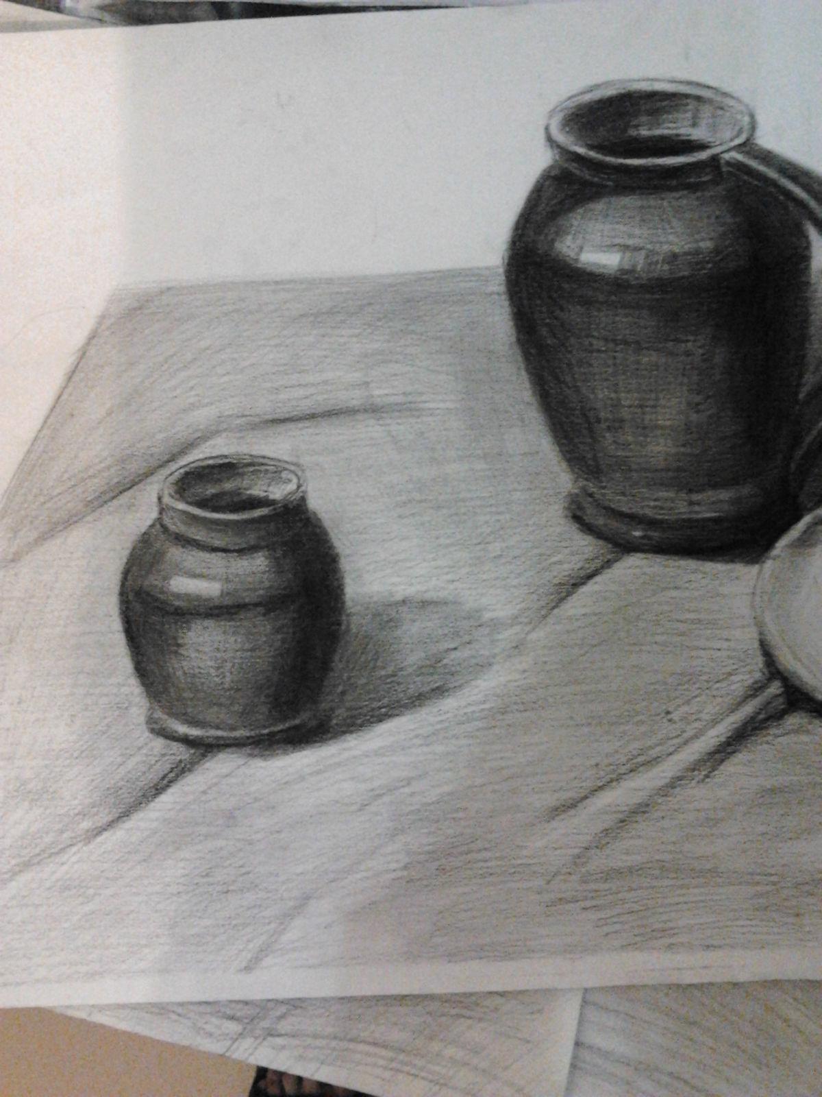 静物素描罐子_单个罐子静物素描_单个罐子静物素描画法