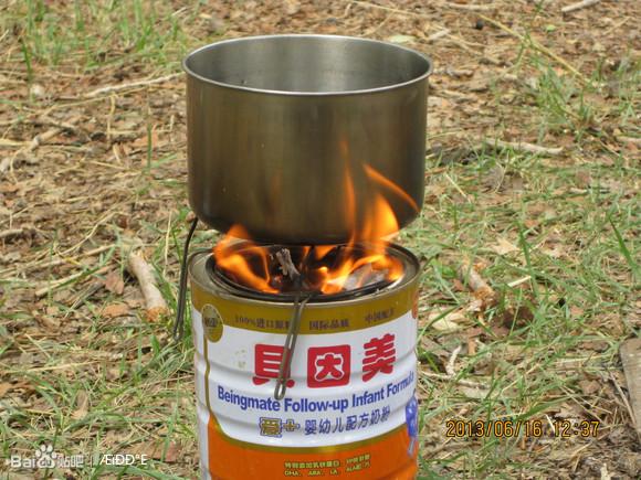 图片:用火煮饭的图片_【图片】【技术】自制野炊气化柴炉【骑行吧】_百度贴吧