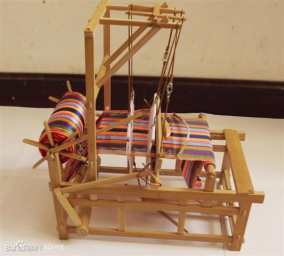 织布机视频_【图片】【巧手东东】纯手工制作 老式织布机 !大家来围观 ...