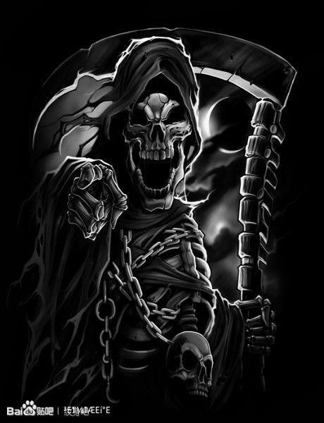 穿越黑骑士qq头像_死神镰刀骷髅火焰图片图片_死神镰刀骷髅火焰图片图片下载