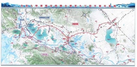 安九高铁路线_【详图】合安九高铁线路走向图